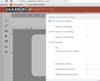 Label printing software markin.